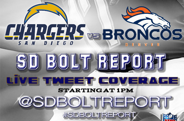 Live Tweeting the Chargers-Broncos Game